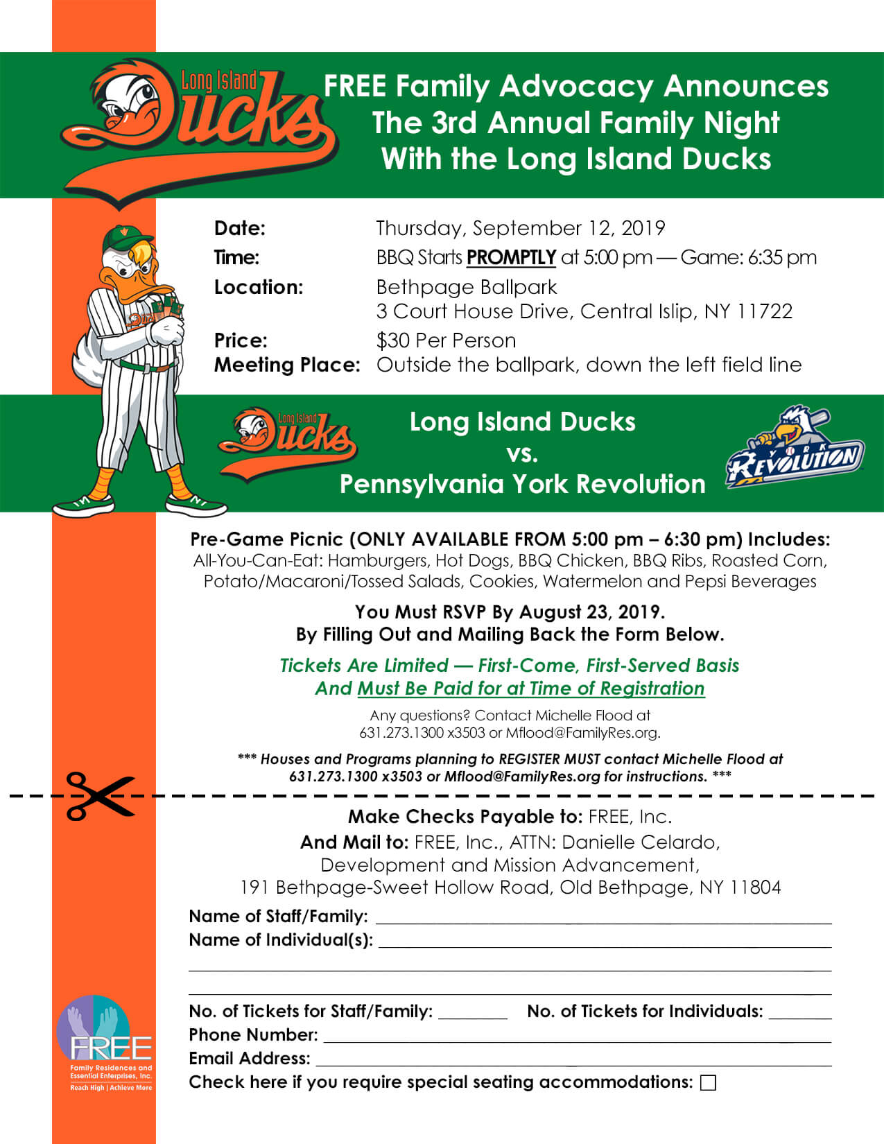 Ducks Flyer + RSVP
